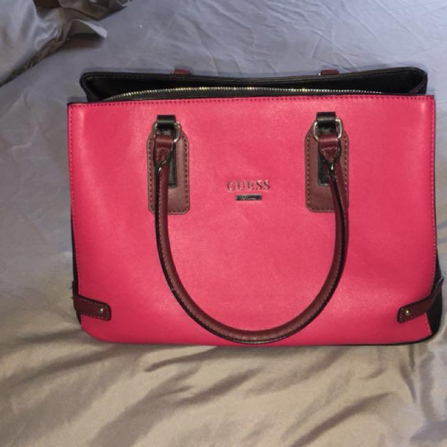 *** Price Drop**** Pink and black Guess Bag