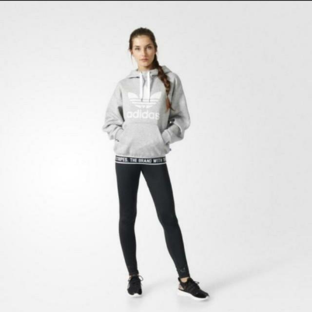 【全新】adidas 仿皮感緊身褲 三葉草 運動內搭褲 996 nike