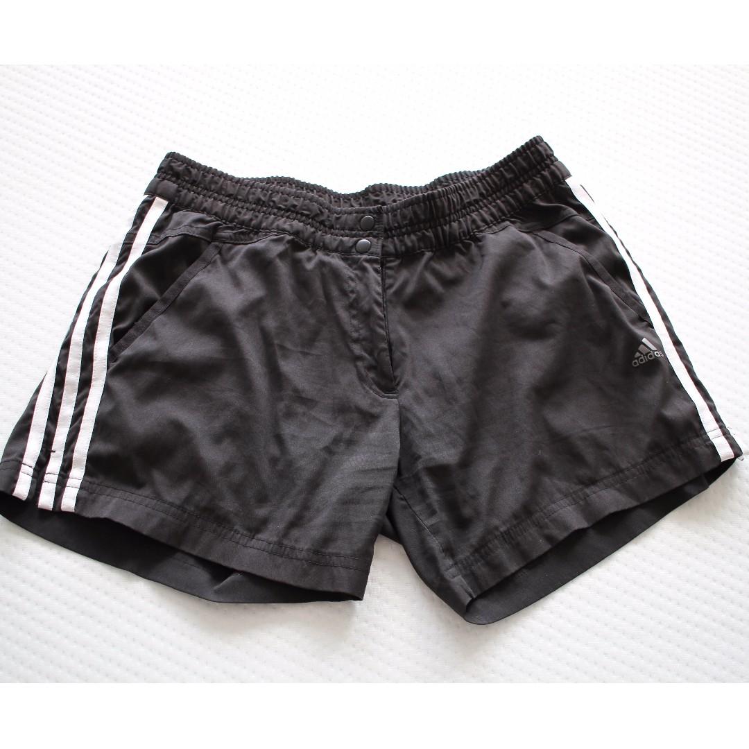 Adidas climalite black womens shorts medium size
