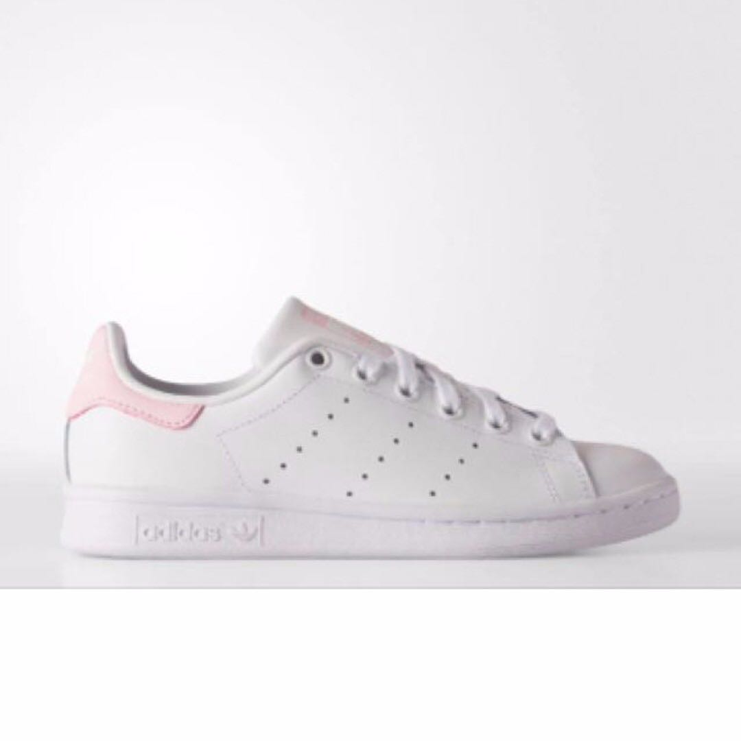 Adidas Stan Smith 粉紅色小白鞋 US 22.5