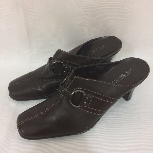 Aerosoles Brown Leather Heels