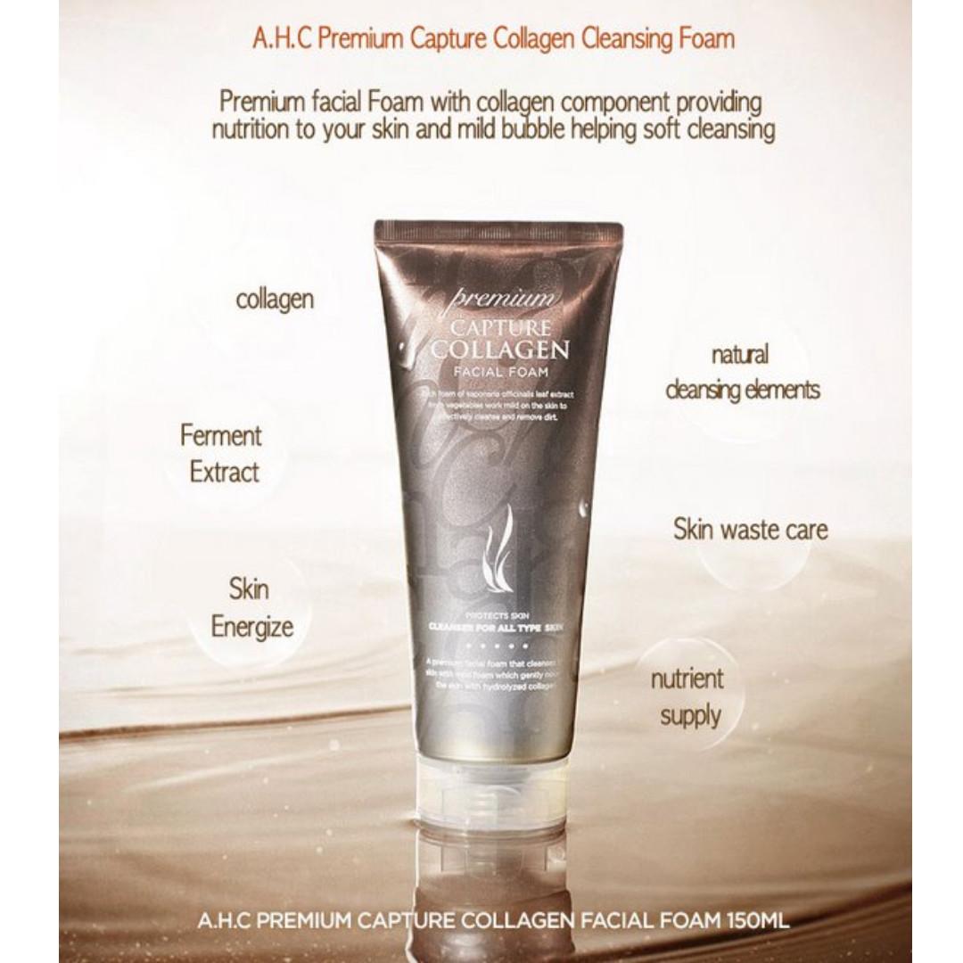 AHC 洗面乳 新版 Capture Collagen Facial Foam 膠原蛋白 保濕洗面乳 150ml 潔面乳