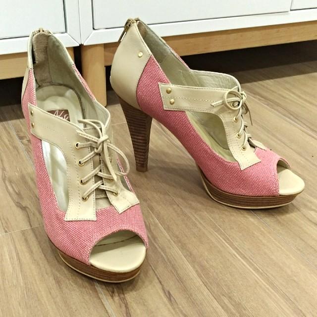 ASO阿瘦粉紅色高跟鞋
