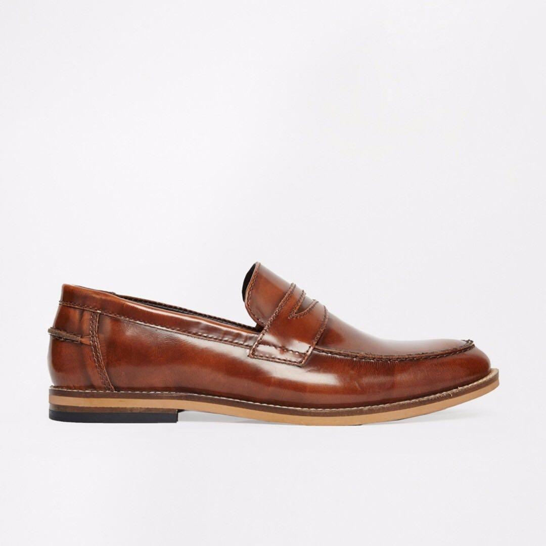 ASOS Loafers in Leather 帆船鞋 英倫 休閒鞋 紳士 時尚 經典 英國 UK9