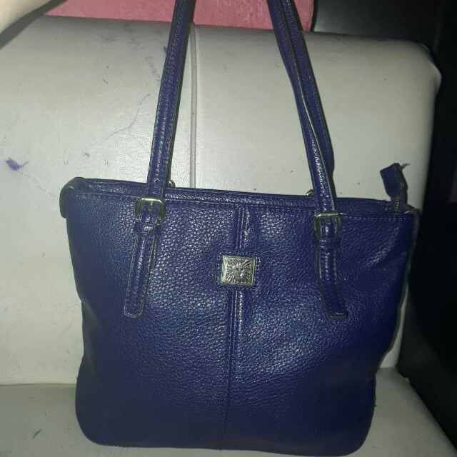 AUTHENTIC ANNE KLEIN  SMALL TOTE BAG in DEEP SEA