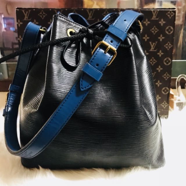 Authentic Louis Vuitton Epi Leather Petit Noe Black/Blue
