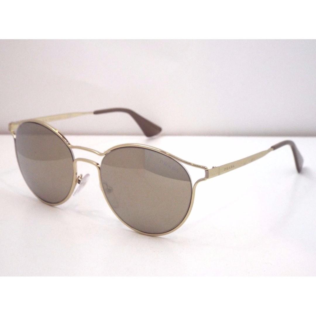 Authentic Prada Cinema Pale Gold Sunglasses $390 with case