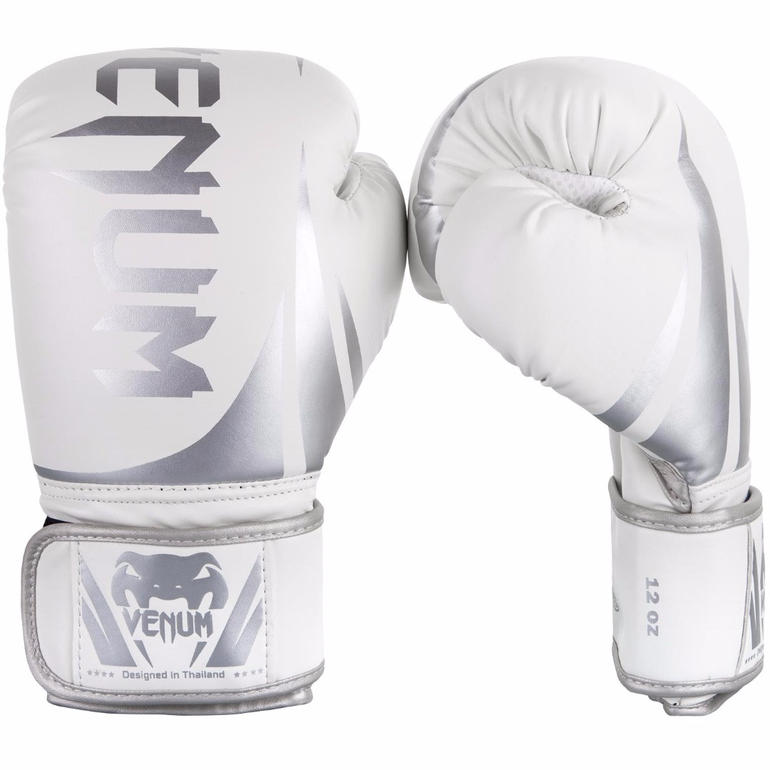 Authentic Venum Challenger 2 0 Boxing Gloves (White/Silver