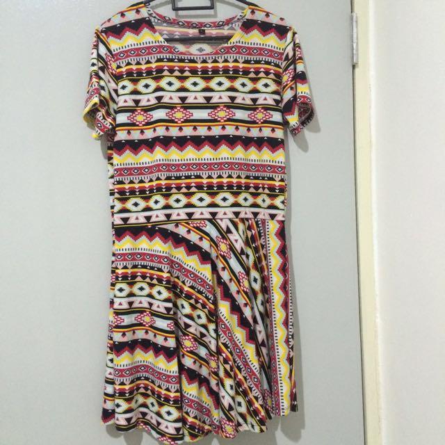 Aztec/ Tribal Print Dress I #SemuaRM5