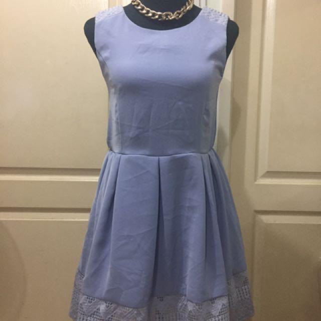 baby blue lace dress m