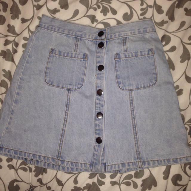 BDG Light Denim Skirt