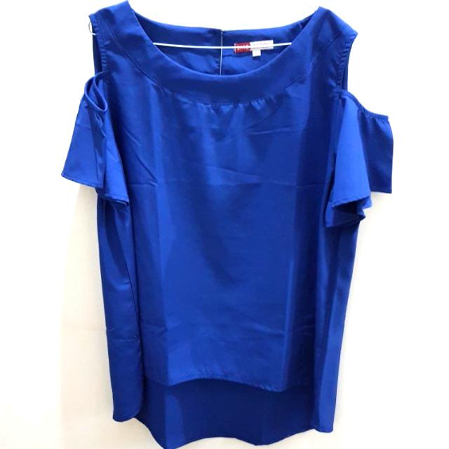 Blouse Blue offshoulder Bigsize