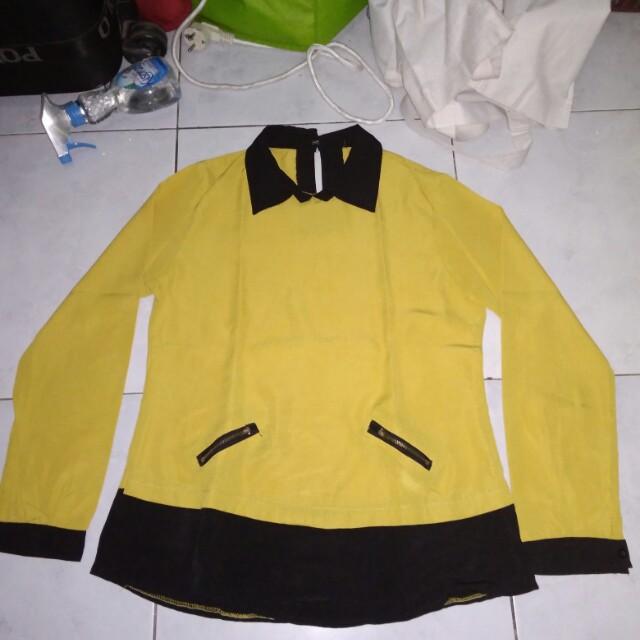 Blouse kuning cantik