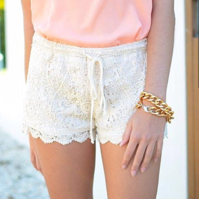 Bluenotes • White Lace Shorts