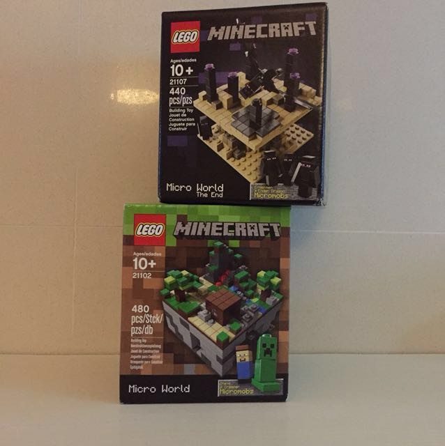 Brand New - LEGO Minecraft 21102 & 21107