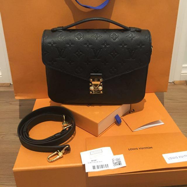 BRAND NEW!!! Authentic Pochette Metis Empreinte Noir