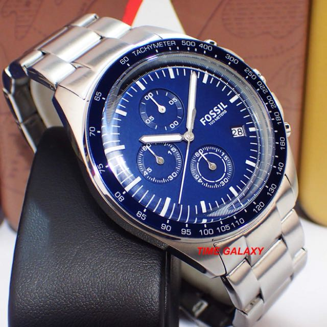 49d671ce293 Brand New Fossil CH3030 Sport 54 Chronograph Blue Dial Stainless ...