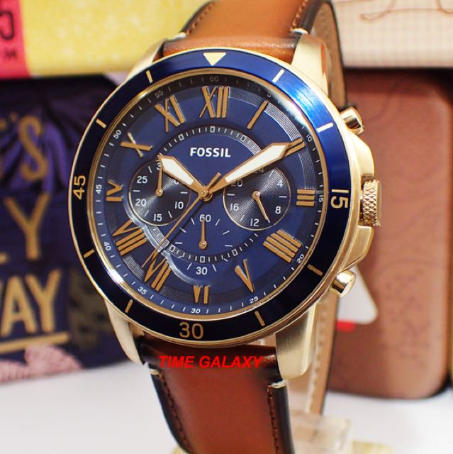 999bd53d464aa Brand New Fossil FS5268 Grant Sport Chronograph Luggage leather ...