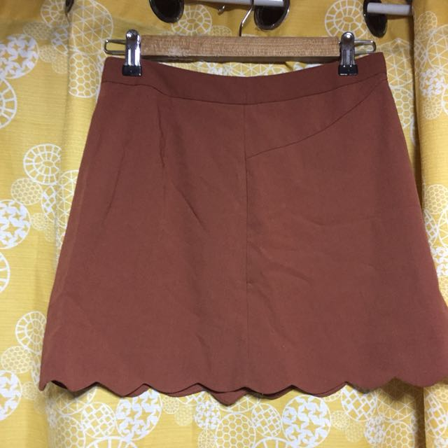 Brown Scallop skirt