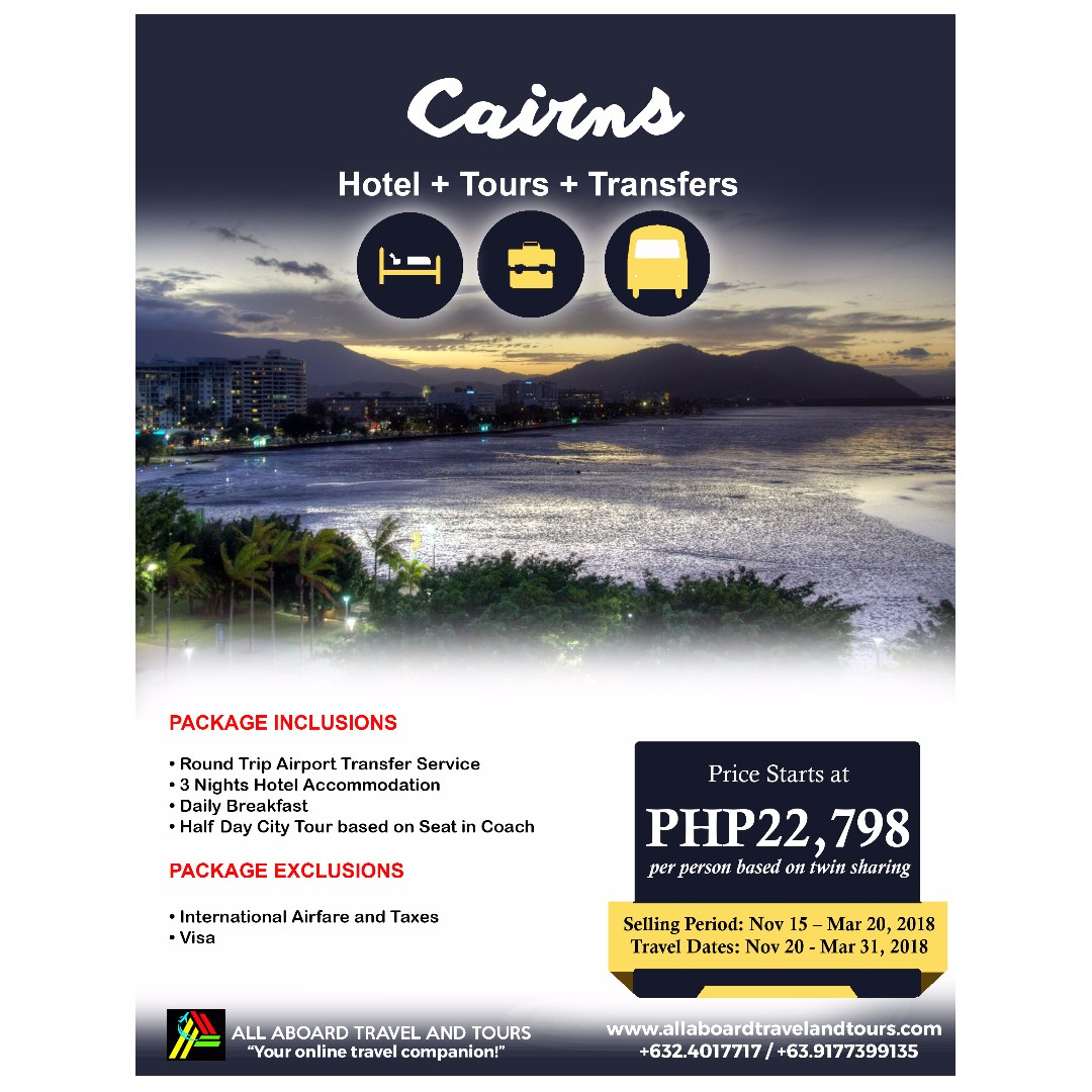 Cairns 4D3N Free and Easy Tour