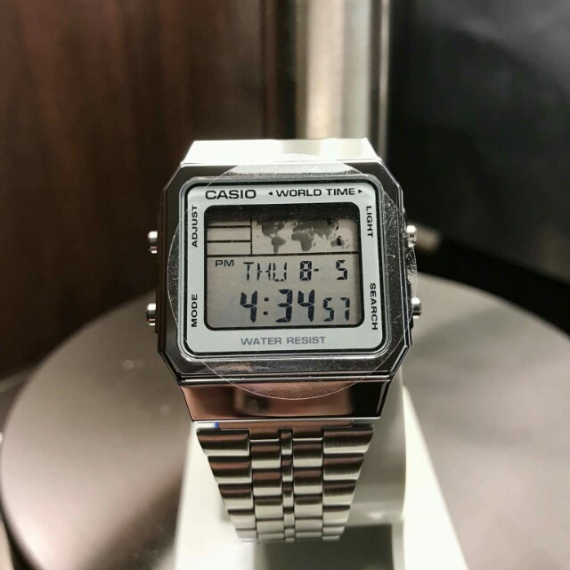 Casio World Map Watch.Casio Latest Map Watch Silver Women S Fashion Watches On Carousell
