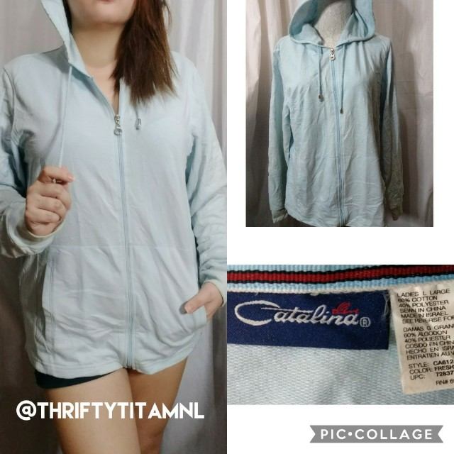 Catalina Baby Blue Hoodie Large