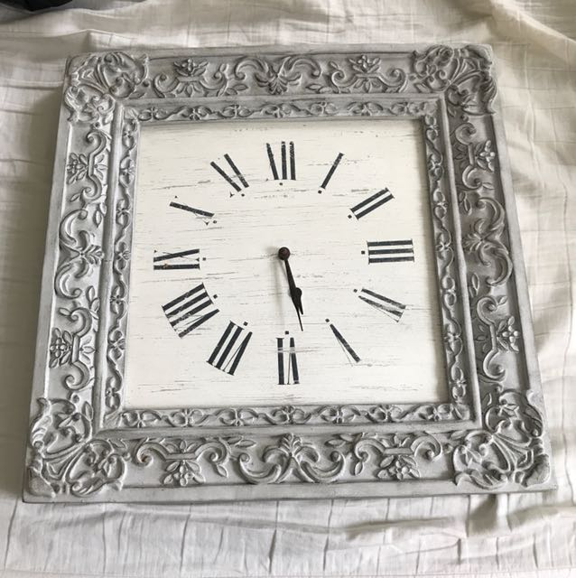 Ceramic grey design clock