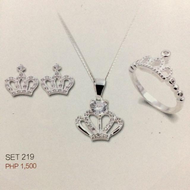 Crown Set 925 Silver Set