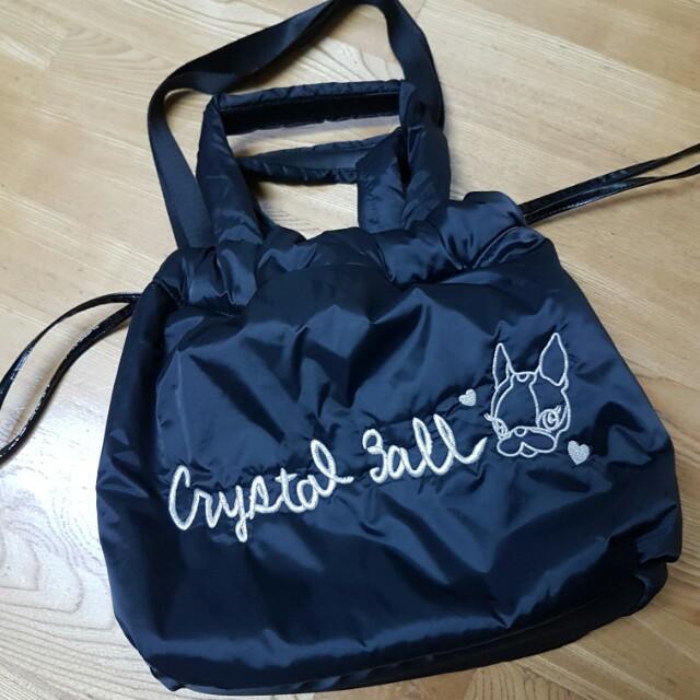 Crystal Ball 狗頭包 肩背 手提 側背 尼龍布 防潑水 #手滑買太多
