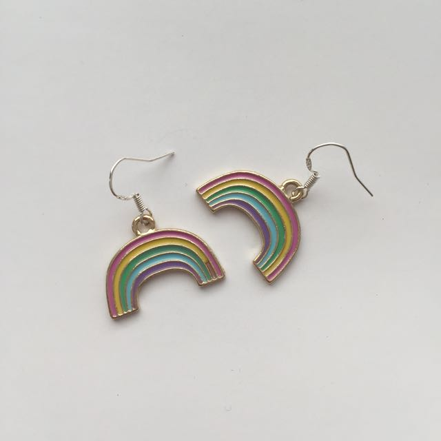 cute rainbow earrings