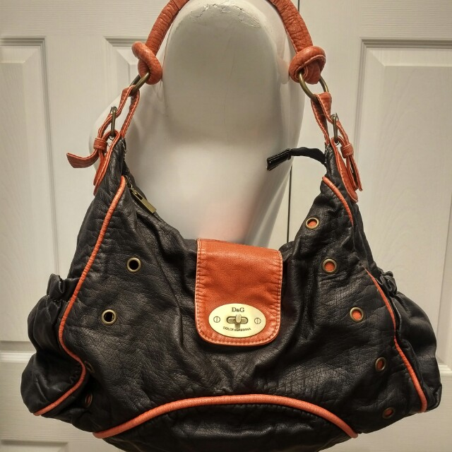 D&G black and red handbag