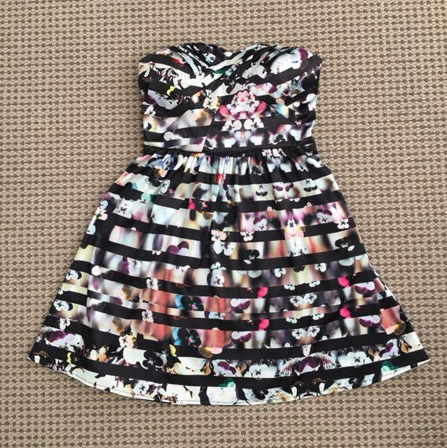 Dotti strapless dress