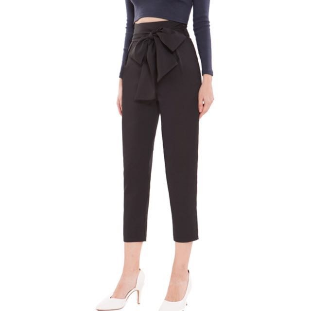 Doublewoot Sash Bow trousers (Black)