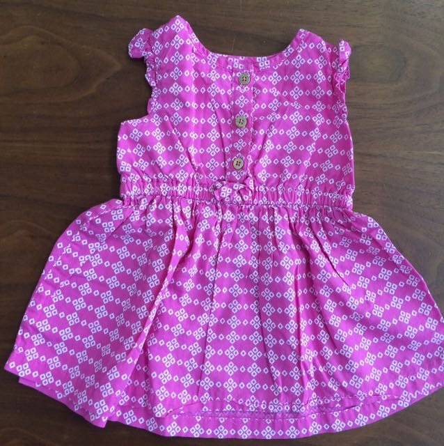 Dress carters shocking pink size 6 bulan