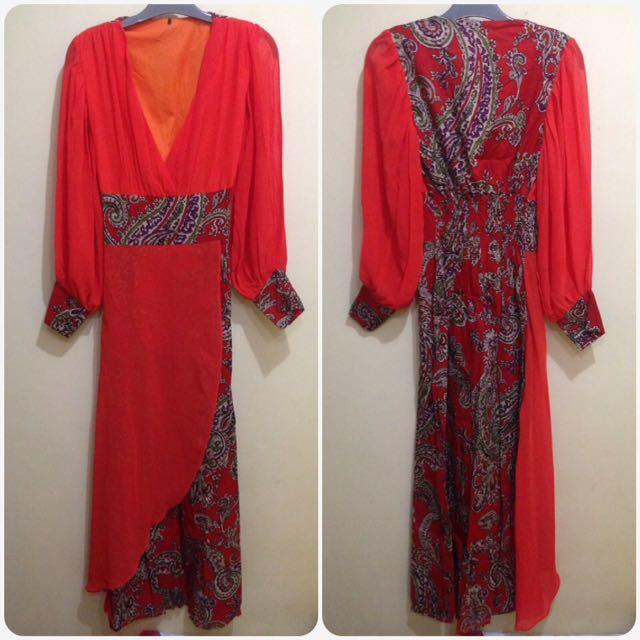 Dress Merah Batik