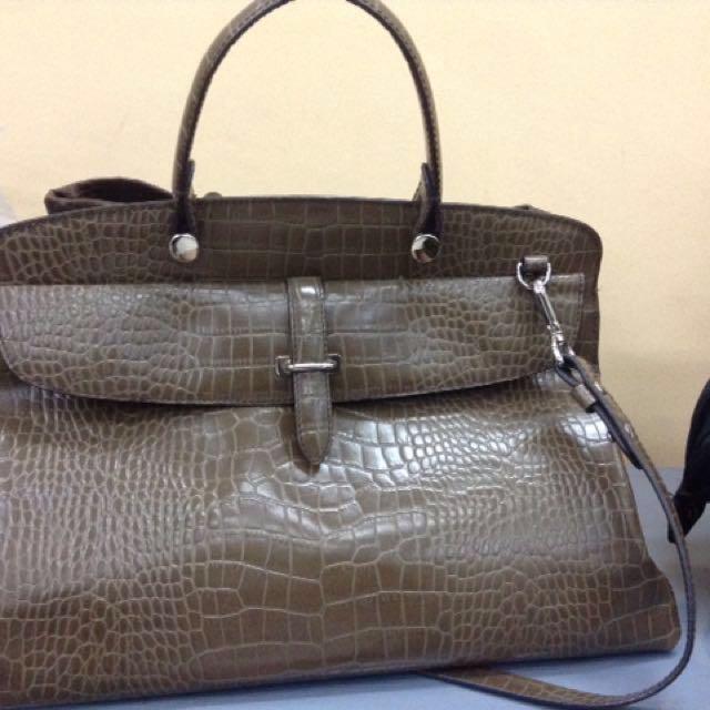 Fino bag croc leather