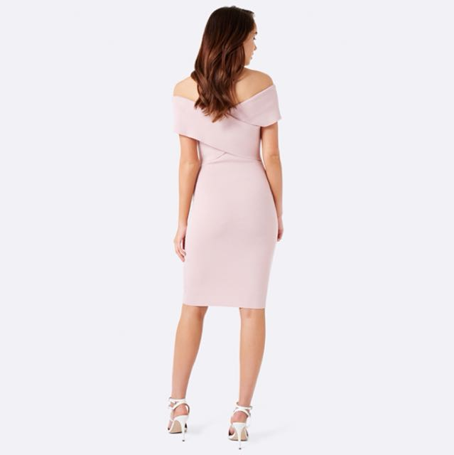 Forever New Kiki Sleeveless Cross Front Dress in Blush