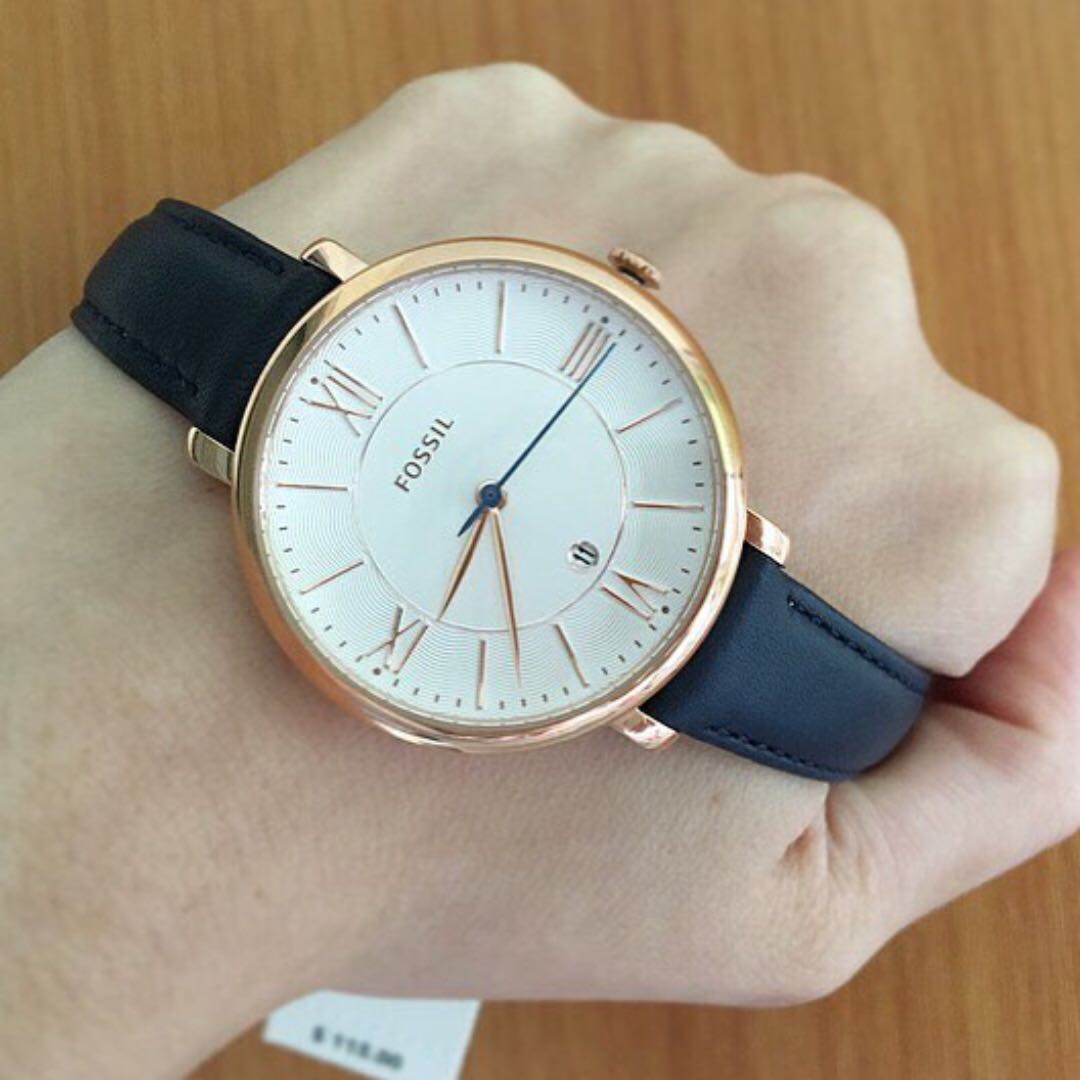 leather dial fossil white womens ladies s women watches products jacqueline promenade watch