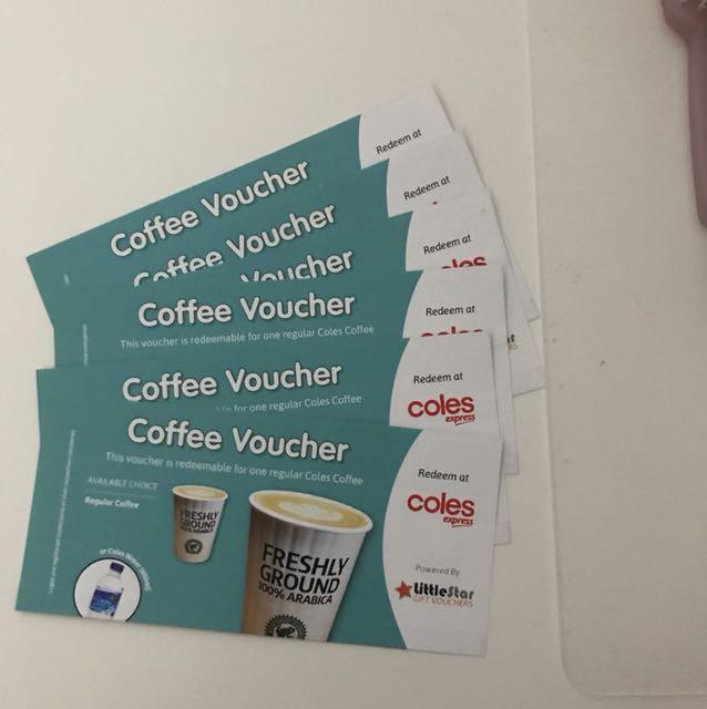 FREE Coles Express Coffee/Water Voucher - Expire 15 Dec 2017