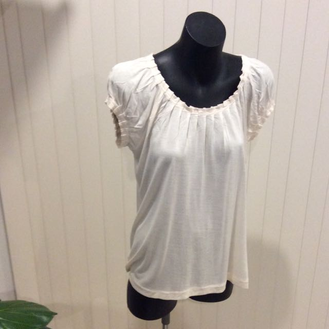 French Connection pleated tee