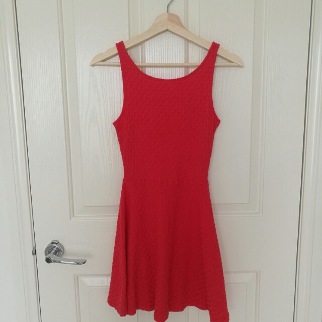 HM red dress Size S