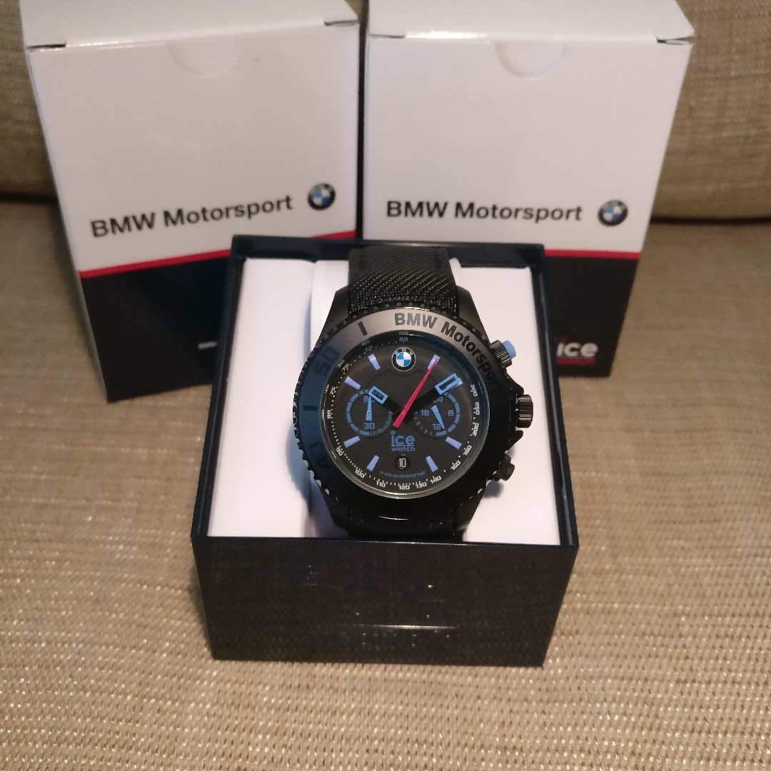 ice watch bmw motorsport steel edition black dial men 39 s. Black Bedroom Furniture Sets. Home Design Ideas