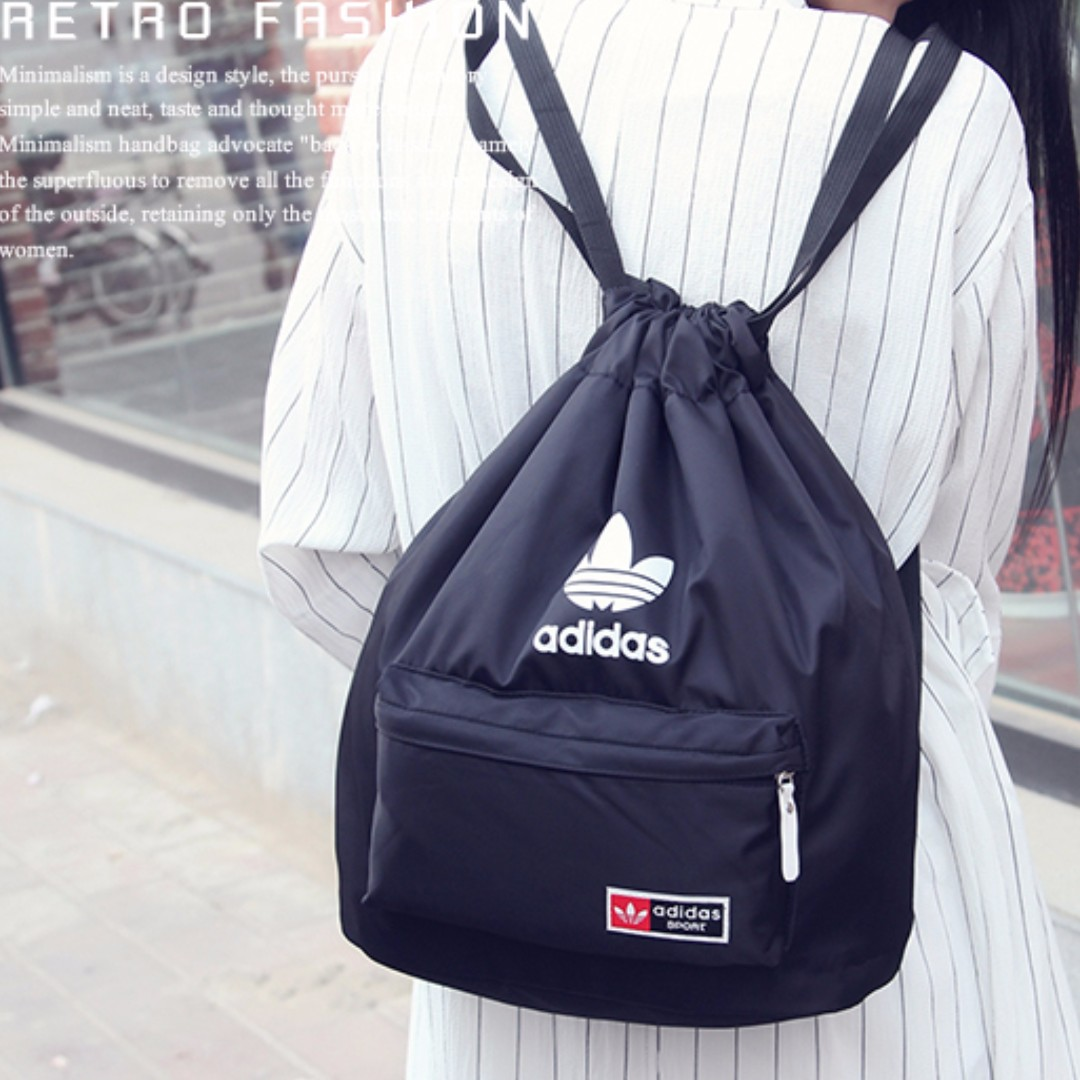 f63b4d1139 Instocks Fashion Drawstring Waterproof Backpack Bag Adidas Inspired ...
