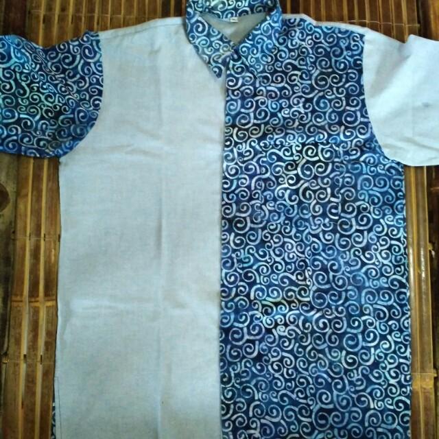 Kemeja Motif Batik Pria