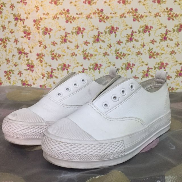Korean White Platform Shoes