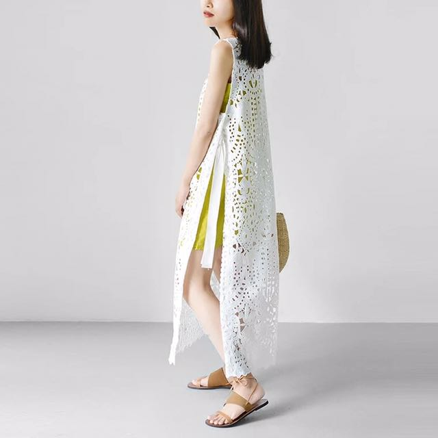 Lace bohemian style maxi dress