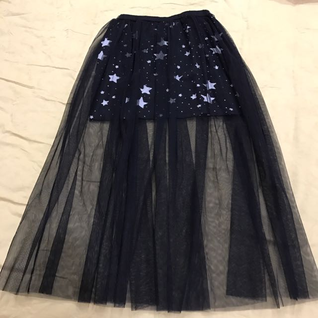 Lacey star see through skirt