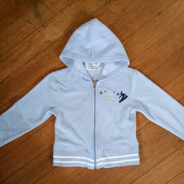 Light Blue Hoodie Jacket Sweater