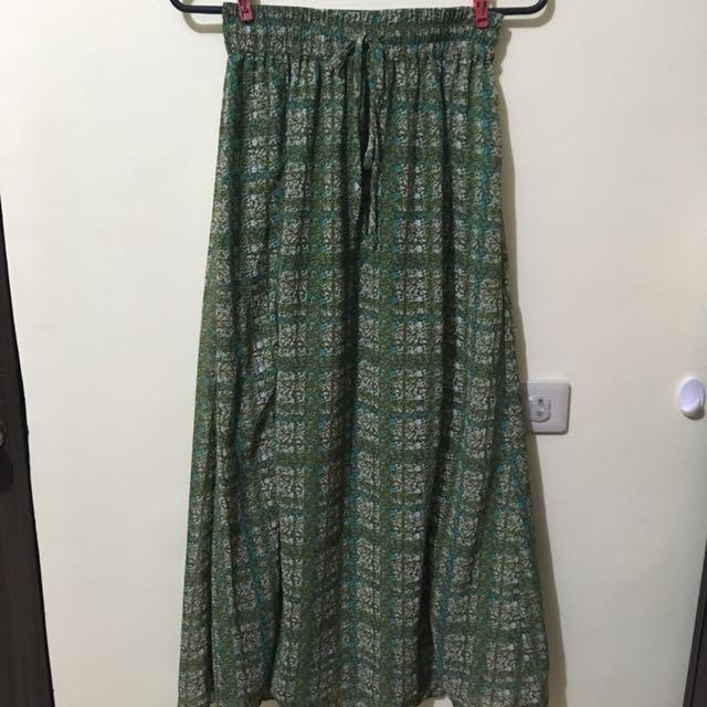 Long Skirt - green