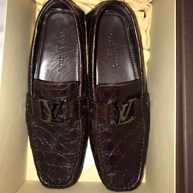 64cf7853b20 Louis Vuitton Mens Monte Carlo Croc loafer
